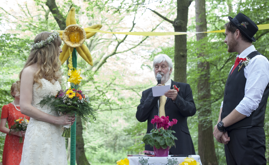 Ben and Flick's woodland wedding