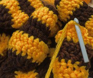 Crochet Bees Swarming